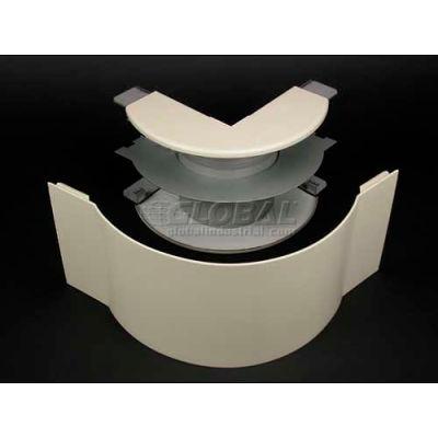"Wiremold V4018FO 2"" Radius FiberReady External Elbow, Ivory, 6-1/2""L"