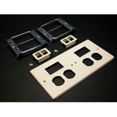 """Wiremold V4047-2bbtt Four-Gng Overlapping Cover, 2 Dplx, 2 Tracjack Mini Adptrs, 9-1/2""""L"""