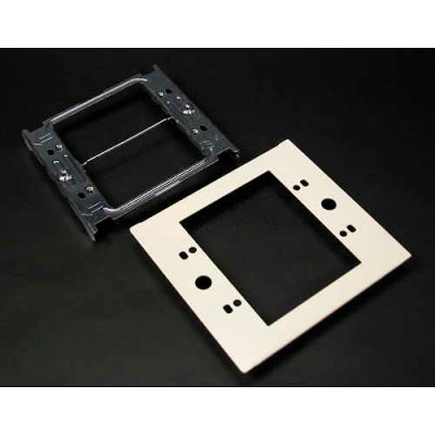 """Wiremold V4047c-2 Two-Gang Overlapping Device Plate, 5-1/8""""L"""
