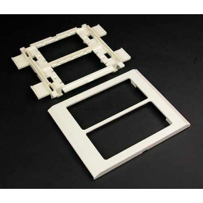 """Wiremold V4050 Device Mounting Bracket And Trim Ring, Ivory, 6""""L"""