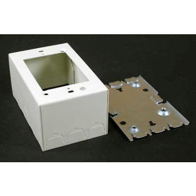 """Wiremold V5744 1-Gang Extra Deep Switch & Receptacle Box, Ivory, 4-5/8""""L"""