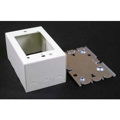 """Wiremold V5747 1-Gang Shallow Switch & Receptacle Box, Ivory, 4-5/8""""L"""