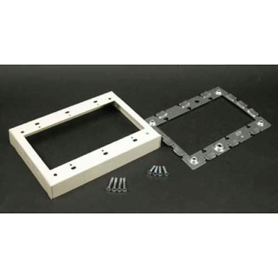 """Wiremold V5751-3 3-Gang Flush Type Extension Adapter, Ivory, 4-5/8""""L"""