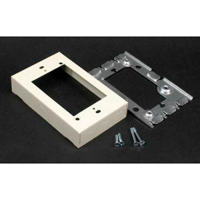 """Wiremold V5751 1-Gang Flush Type Extension Adapter, Ivory, 4-5/8""""L"""