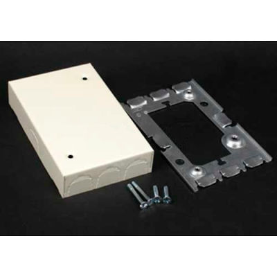 """Wiremold V5760 Blank Extension Box, Ivory, 4-5/8""""L"""