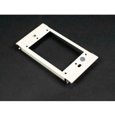"""Wiremold V6007c-1 1-Gang Device Plate For Vertical Mounting Of Devices, Ivory, 2-7/8""""L"""