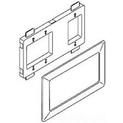 """Wiremold Wsa00-4wh Open Architecture Device Mounting Bracket & Trim Ring, White, 11-1/4""""L"""