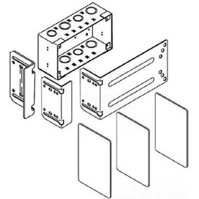 "Wiremold Wsa42-4 Wallsource 4-Gang Multi Service Box, Brackets & Dividers, 9-3/16""L"