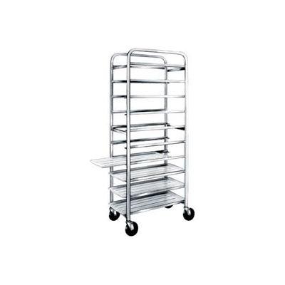 "Winholt AL-1810B, All Welded Aluminum Pan Cart, 10 Pans, 18"""
