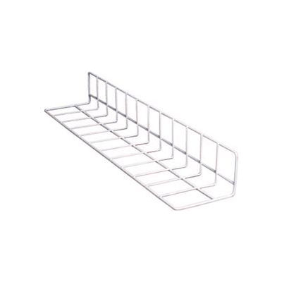 """Vinyl Coated Wire Fence Dividers, Produce, White Case, 24"""" L, 12"""" Side"""
