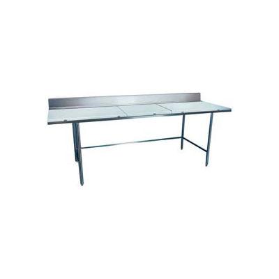 "Winholt Equipment DPTB-3672 Work Table - Poly Top and 6"" Backsplash 72""W x 36""D"