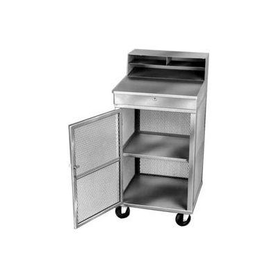 "Winholt Mobile Cabinet Shop Desk OTE-2224-GY See-Through Mesh & Riser 22W"" x 22""D x 49-1/2""H - Gray"