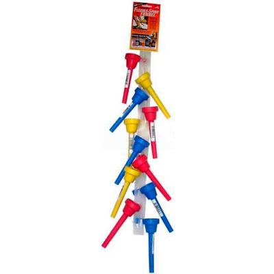 Funnel King® Flexible Spout Funnel w/ Clip Strip Of 12 Funnels - 32197