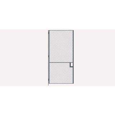 Husky Rack & Wire EZ Wire Mesh Partition Hinged Door - 4'Wx8'H