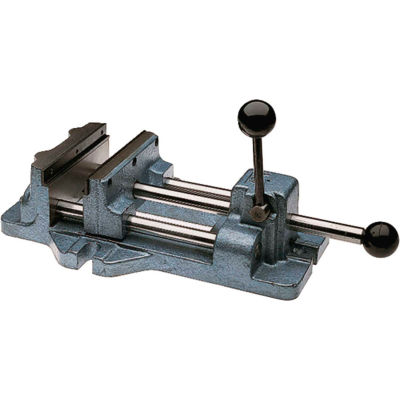 """Wilton Cam Action Drill Press Vise, 6"""" Jaw Width, 1-3/16"""" Jaw Opening"""