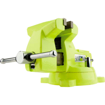 "Wilton 63188 Model 1560 6"" Jaw Width 4-1/8"" Throat Depth High-Visibility Safety Vise W/ Swivel"