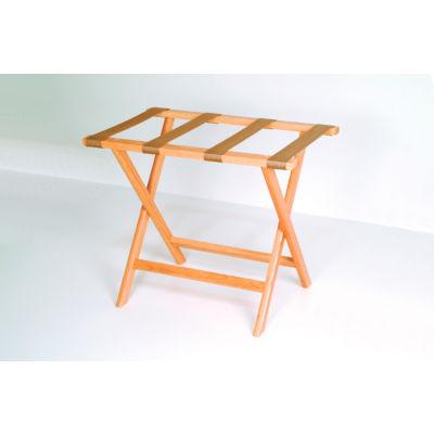 Luggage Rack w/ Straight Legs - Medium Oak/Tan