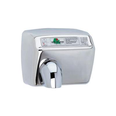 World Dryer Automatic Hand Dryer 208/230V - Bright SS - DXA54-972AU