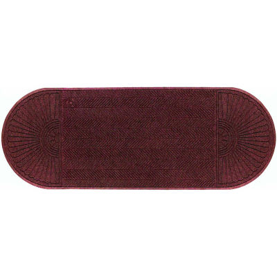 """WaterHog Eco Grand Elite 3/8"""" Thick Two Ends Entrance Mat, Maroon 6' x 22'4"""""""