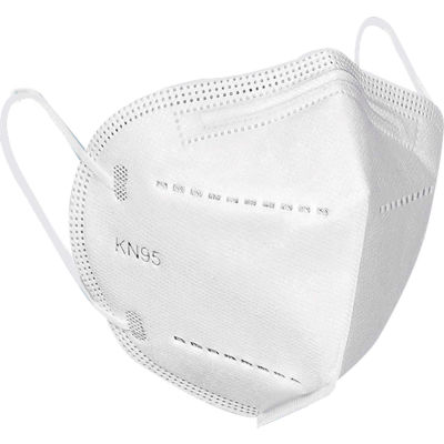 KN95 Air Purifying Disposable Face Masks, White 50/Box