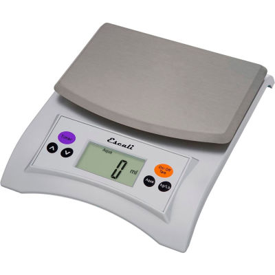 Escali A115S Aqua balance numérique avec toit amovible, 11lb x 0,1 oz / 5 kg x 1 g, acier inoxydable