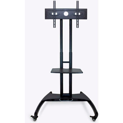 """Luxor Adjustable Height LCD/LED TV Stand For 40""""- 60"""" TVs, Black"""