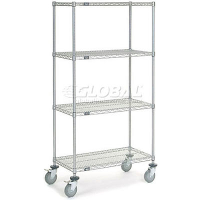 Nexelate® Wire Shelf Truck 36 x 18 x 69 1200 Lb. Capacity
