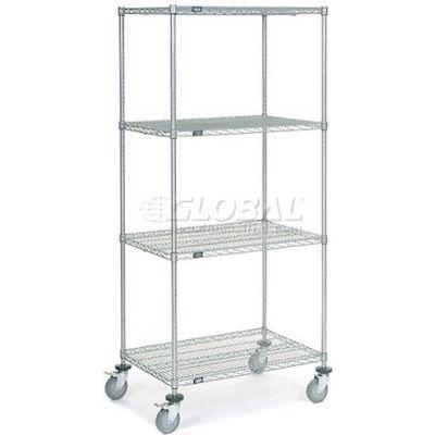 Nexelate® Wire Shelf Truck 36x24x80 1200 Pound Capacity