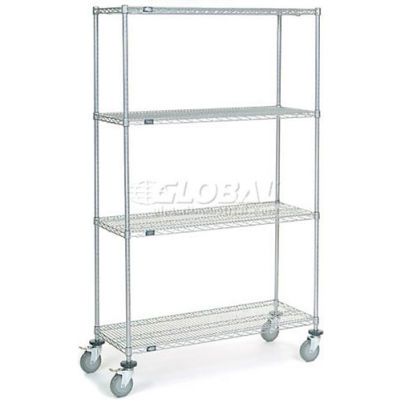Nexelate® Wire Shelf Truck 48x18x80 1200 Pound Capacity