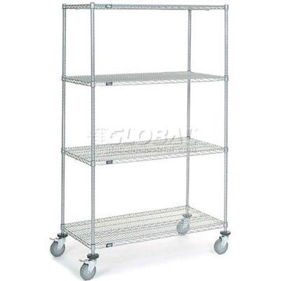 Nexel® Chrome Wire Shelf Truck 48x24x80 1200 Pound Capacity