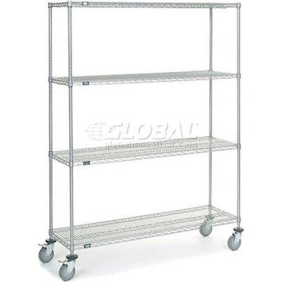 Nexel® Chrome Wire Shelf Truck 60x18x80 1200 Pound Capacity