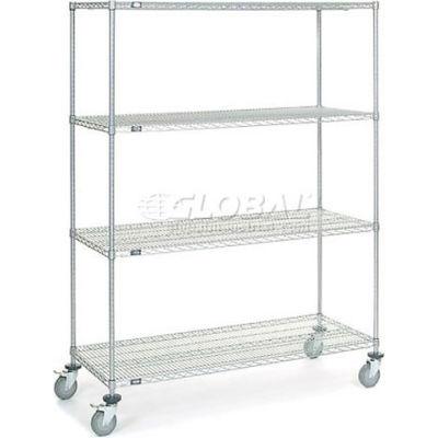 Nexelate® Wire Shelf Truck 60x24x80 1200 Pound Capacity