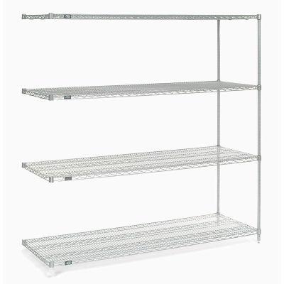 "Nexel® Poly-Z-Brite® Wire Shelving Add-On 54""W x 18""D x 74""H"