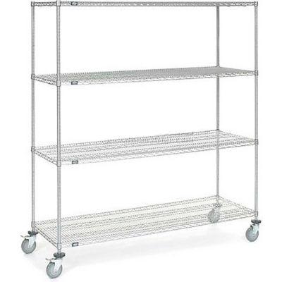 Nexel® Chrome Wire Shelf Truck 72x24x80 1200 Pound Capacity