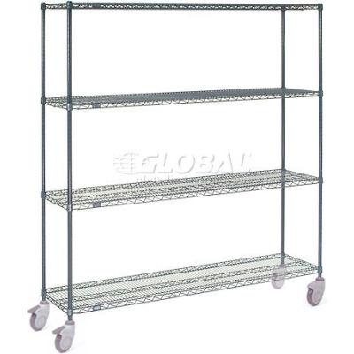 Nexelon™ Wire Shelf Truck 60x24x80 1200 Lb. Capacity